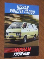 1985 Nissan Vanette Cargo original Australian foldout brochure