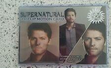 "SUPERNATURAL CASTIEL    3D  6 X 4"" MOTION FLIP  CARD  BRAND NEW"