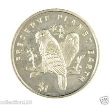 Liberia Commemorative Coin $1 1996 UNC --  Preserve Planet Earth, Love Birds