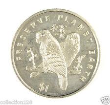 New listing Liberia Commemorative Coin $1 1996 Unc - Preserve Planet Earth, Love Birds