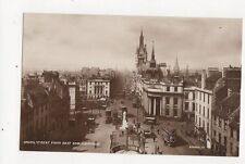 Union Street From East End Aberdeen Vintage RP Postcard 289a