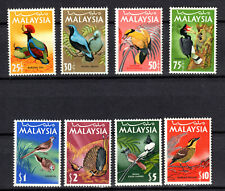 MALAYSIA MALAYA 1965 BIRDS DEFINITIVE COMPLETE SET OF MNH STAMPS UNMOUNTED MINT