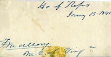 FRANCIS MALLORY - SIGNATURE(S) 01/15/1841