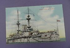 H.M.S. MAJESTIC - First Class Battleship Postcard in Excellent Unused Condition