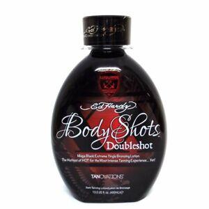 Ed Hardy Tanovations Body Shots Doubleshot Warning Mega Extreme Tingle 13.5 oz