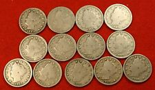 1900-1912 LIBERTY V NICKEL G+ FULL RIMS COLLECTOR 13 COINS NICE QUALITY LN563