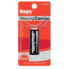 Magic tissage fil & 3 aiguilles pour tissage de cheveux noir