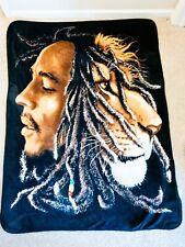 Bob Marley Fleece Throw Blanket 45 Inch X 60 Inch