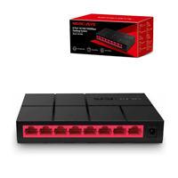 MERCUSYS MS108G 8-Port 10/100Mbps Gigabit Desktop Ethernet Splitter Switch/Hub
