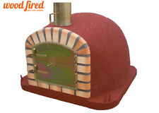 brick outdoor wood fired Pizza oven 900cm x 90cm Maxi-Deluxe extra model in red