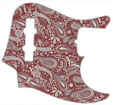 J Bass Pickguard Custom Fender Graphic Graphical Guitar Pick Guard Paisley RD-GY