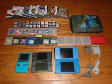 3 Nintendo Consoles - GBC DS Lite DSi XL + 47 games incl 3DS huge lot bundle