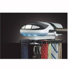 Wardrobe Motorized Lighted Tie Rack Auto Belt Hook-hold 45 Ties 8 belt Battery