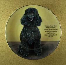 Cherished Poodles Faithful Friend Plate Black Poodle Danbury Mint Dog Puppy Htf