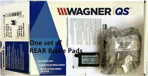 Rear Disc Brake Pad Set for 2004-07 Ford Freestar Minivan- Wagner ZD1021 Ceramic