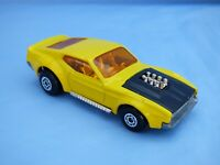 Vintage 1972 Matchbox Superfast No 44 Boss Mustang Yellow Muscle Car Diecast Toy