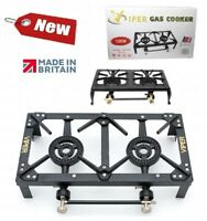 Viper Cast Iron Gas Boiling Ring LPG Burner Cooker Outdoor Double Camping 10kw