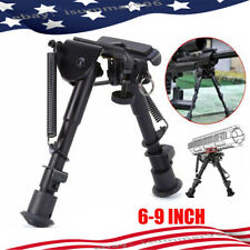 "Us foldable Bipod 6/9""Adjustable Spring Harris Metal Sling Swivel For Rifle Hunt"
