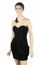 Viscose Party/Cocktail Strapless Dresses for Women
