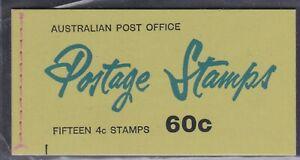 1966 4c Red QE2 60c booklet Use Postal Orders,' tab, B75Gf, Ed DN10, MNH