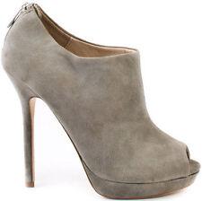 NEW no box POUR LA VICTOIRE Grey Kidsuede Forsa Peep Toe Ankle Bootie - Sz. 9