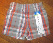 Baby Infant Boys Shorts Sz. 3 months 100% Cotton NWT Gray/Orange