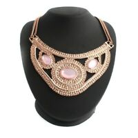 "Wendy Williams 14k Rose Gold Over Pink Cabochon 17"" Fashion Necklace"