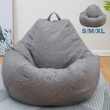 Large Bean Bag Chairs Couch Sofa Cover Indoor Lazy Lounger For Adults Kids New