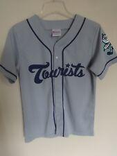'17 MiLB Asheville Tourists SGA Button Front Baseball Jersey Yth L Rockies Gray