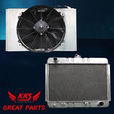 "KKS 3 ROWS RADIATOR W/ SHROUD & 16"" FANS 62 63 64 65 66 67 CHEVY NOVA II V8"