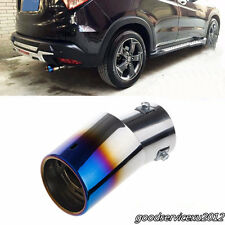 Durable Colorful 85*63mm Vehicles Rear Round Bent Exhaust Pipe Tail Muffler Tip