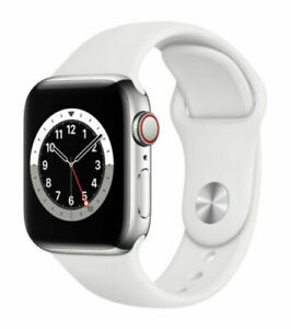 Apple Watch Series 6 Cellular 40mm Silver Stainless Steel with two bands