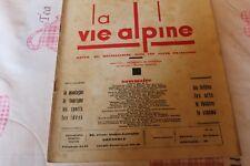 LA VIE ALPINE 38    revue du régionalisme dans les alpe française 1931