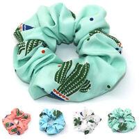 Women Girls Cactus Ponytail Holder Scrunchies Elastic Hair Band Ties Accessories