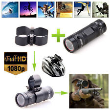 HD 1080P Video DV Gun Clip Mount Helmet Sports Action Camera For Hunting Shotgun