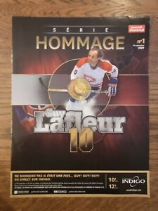 2010 Montreal Journal Tribue Poster Serie Hommage 1 - Canadiens - Guy LaFleur