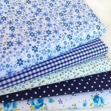 Fat Quarters Fabric Bundles NAVY BLENDER Quilt Craft Floral Spot Bunting Gingham