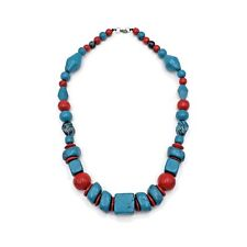 Fashion Wood Necklace Graduated Chunky Large Bead Necklace Jewelry Set
