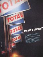 PUBLICITÉ DE PRESSE 1961 TOTAL VA DE L'AVANT TOTAL DE NUIT - ADVERTISING