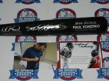 Paul Konerko SIGNED AUTOGRAPHED Black Rawlings Bat With proof White Sox