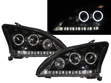RX RX330/RX350/RX400H XU30 03-09 Guide LED Halo Headlight Black for LEXUS LHD