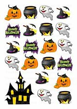 20 icing cupcake cake toppers decorations edible Halloween spooky themed images