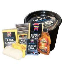 9 pcs Kent Car Wash Kit Valet Gift Pack ArmorAll Shampoo Chamois Cloth Bucket