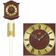 AMS Pendulum Clock Wall Mechanical Home Watch Walnut BIMBAM Striking