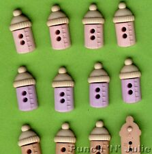 SEW CUTE BABY BOTTLES GIRL - Milk Drink Novelty Dress It Up Sewing Craft Buttons