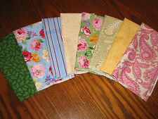 Quilt Fabric Laura Ashley Fat Quarter Lot of Eight CHARLBURY New RARE Cotton