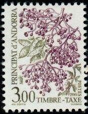 """ANDORRE FRANCAIS STAMP TIMBRE TAXE N°60 """" BAIES SAUVAGES 3F """" NEUF xx TTB"""