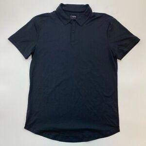 Cuts Clothing Men's Short Sleeve Curve Hem Polo Shirt Black Size S M L XL $88