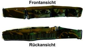 Munitionsgürtel mit Gürteltasche, 90-110cm, tarn, Patronen Gürtel, Lochkoppel