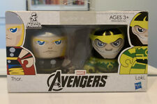"Marvel Universe, Mighty Muggs, AVENGERS, Thor, Loki, 2 Pack, NEW, MOSC, 3"", RARE"